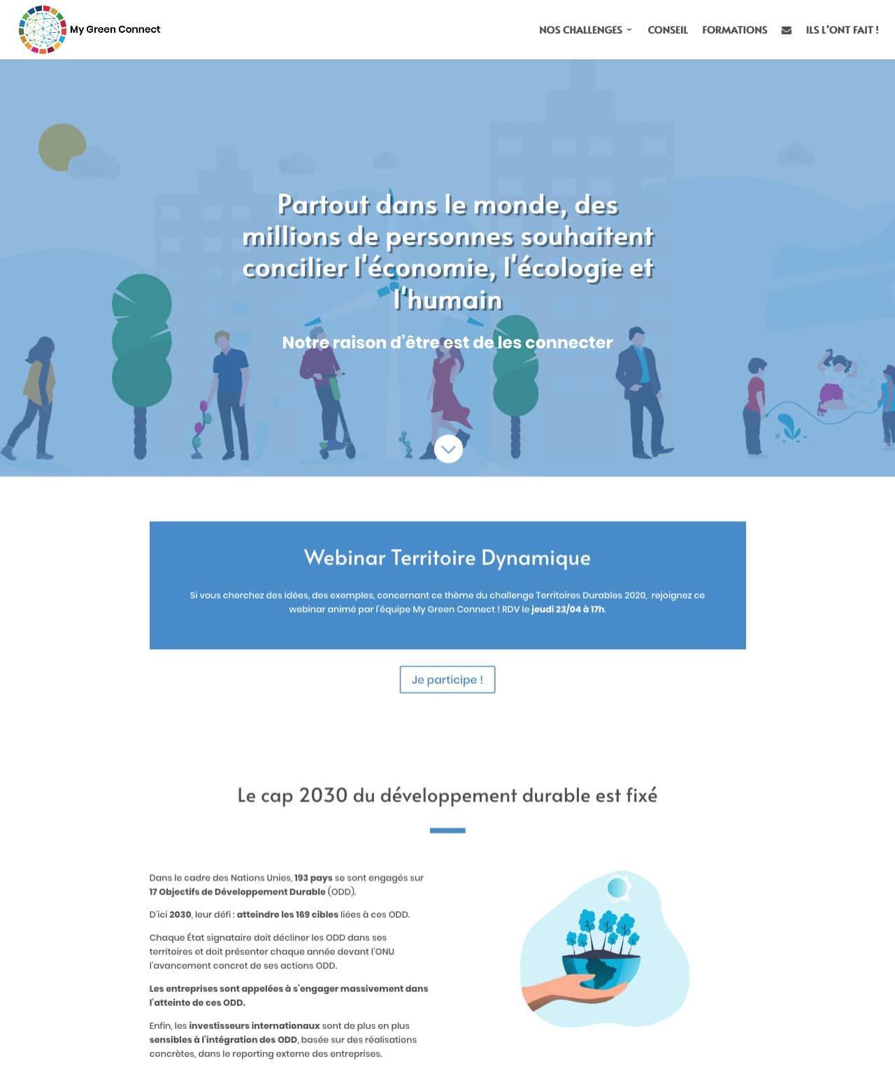 Création d'un site internet vitrine WordPress pour My Green Connect