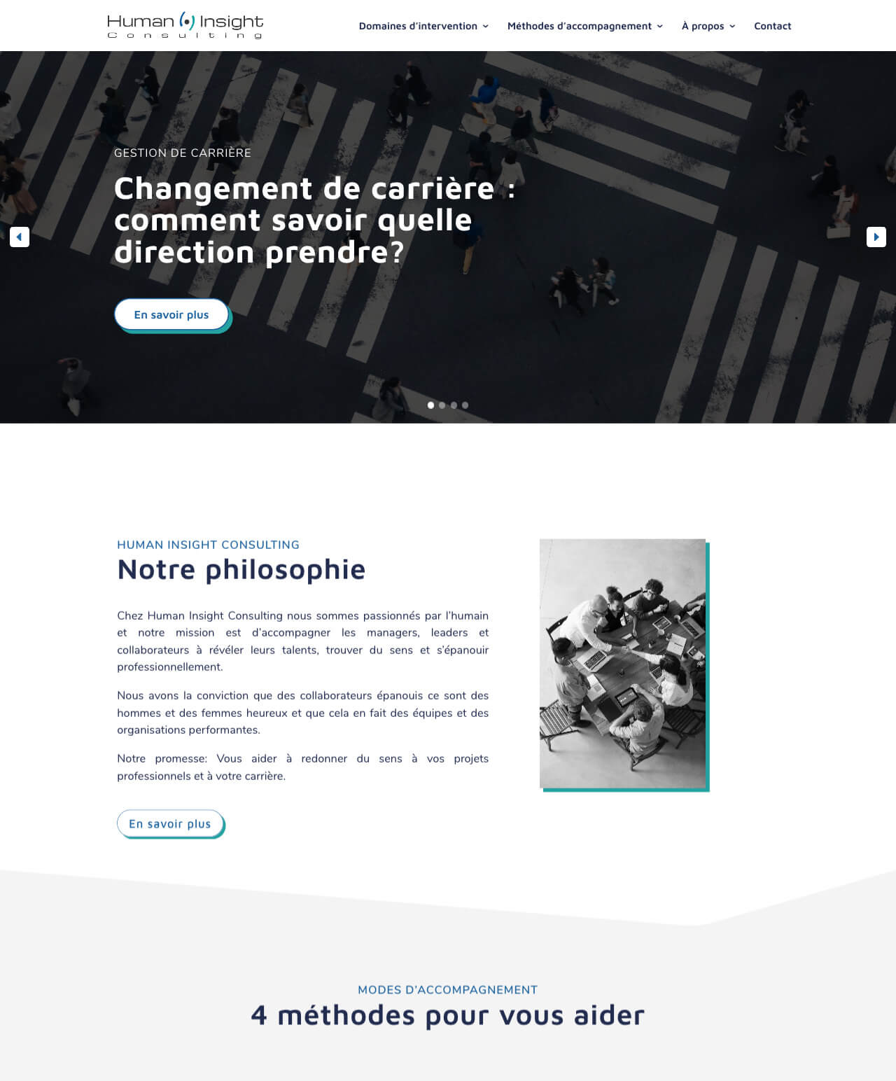 Création d'un site internet vitrine WordPress pour Human Insight Consulting