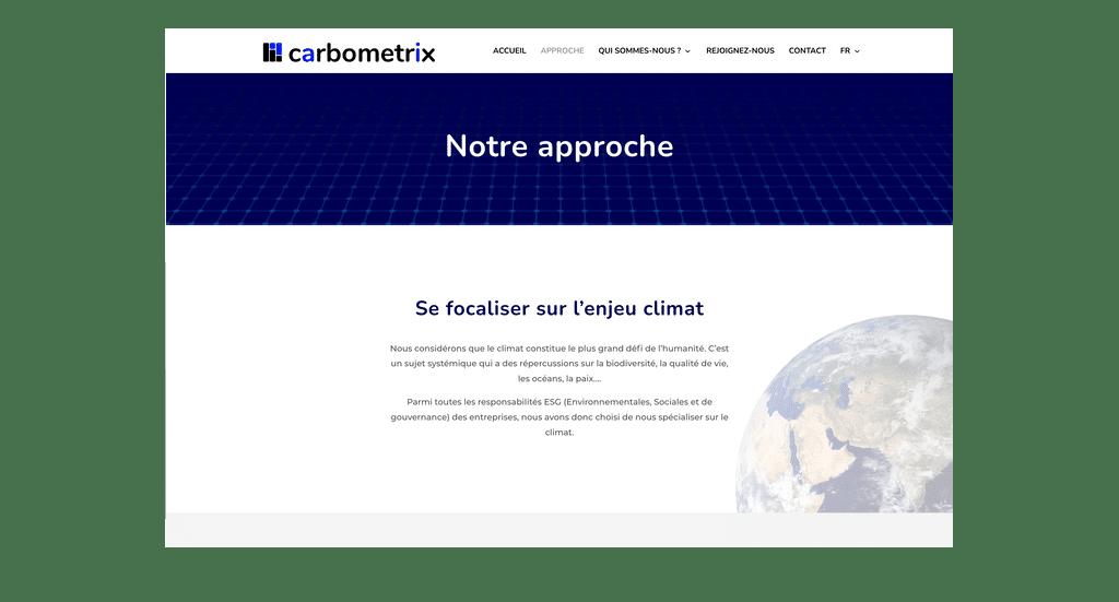 Dernière réalisation de site internet wordpress et web design