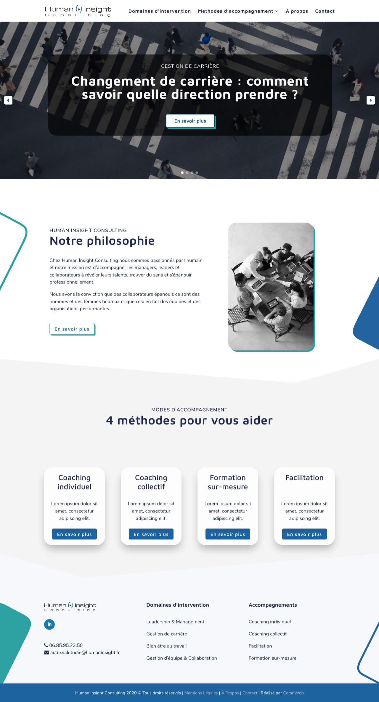 Exemple d'une maquette de site internet WordPress
