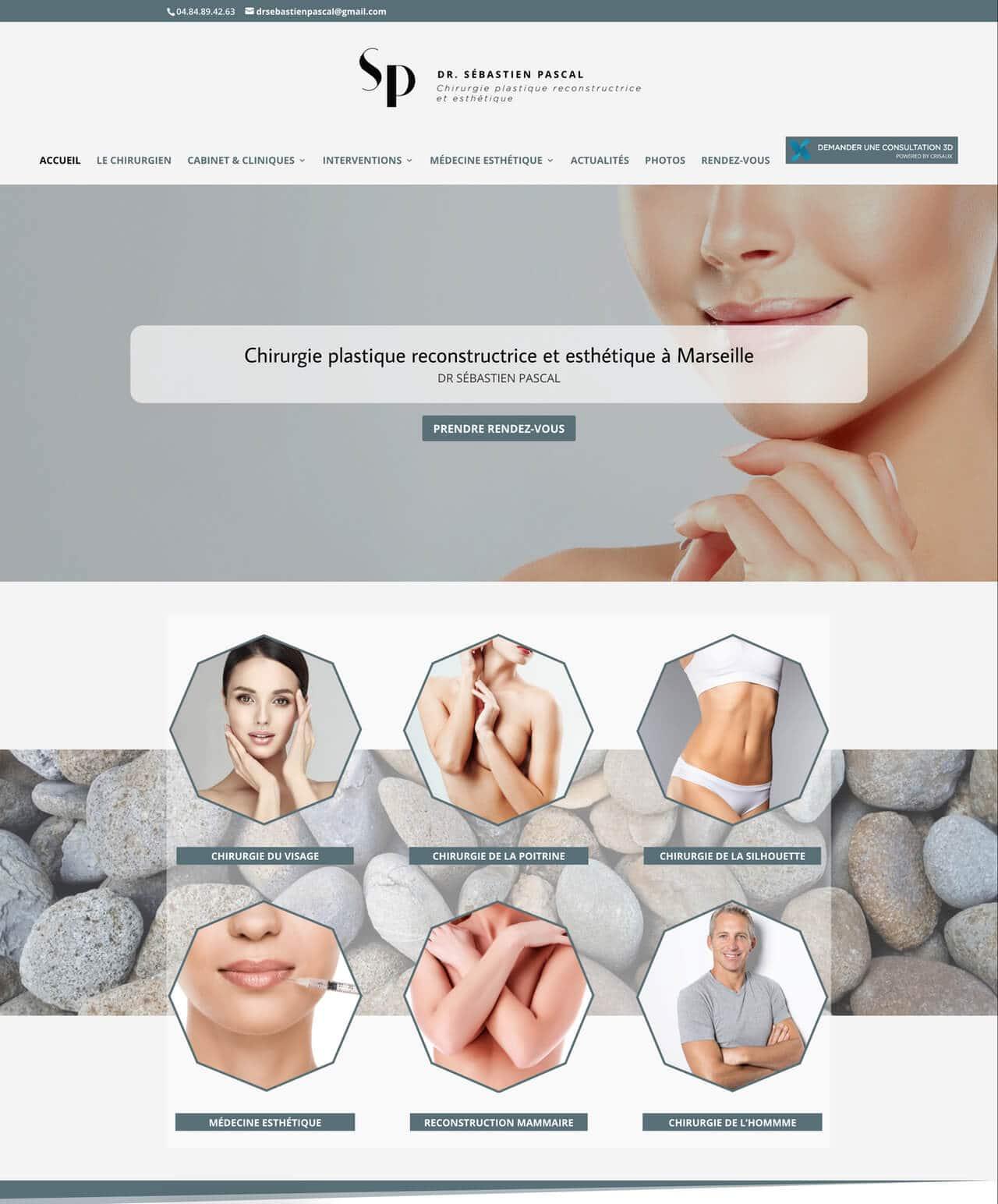 Création d'un site internet vitrine WordPress pour le Dr Pascal