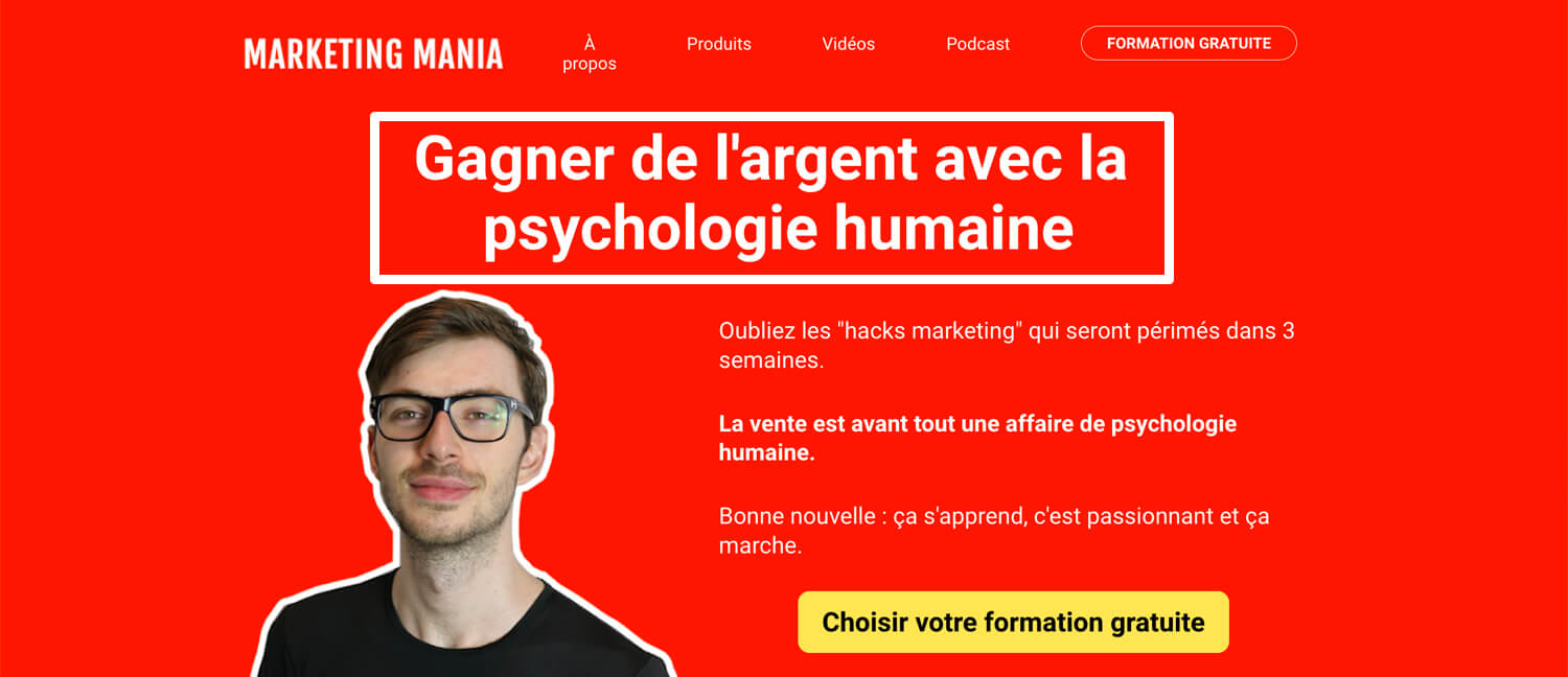 La proposition de valeur unique de Marketing Mania