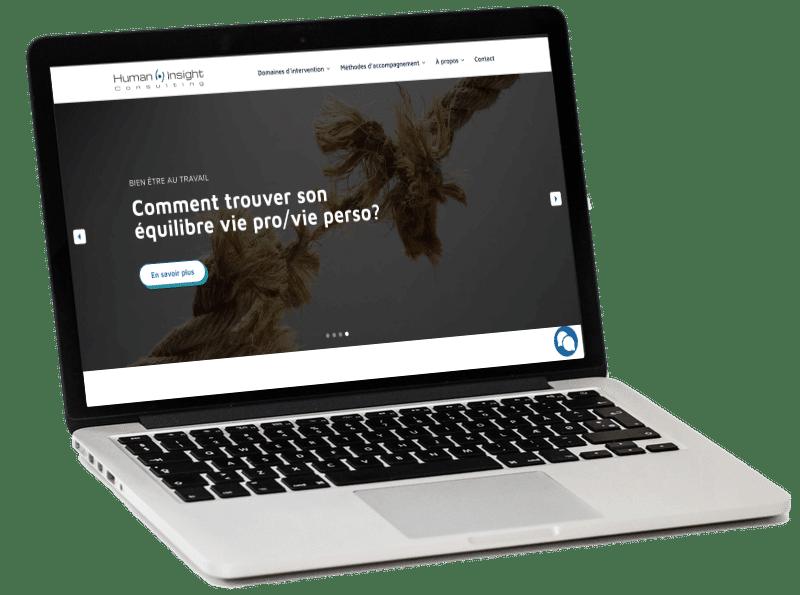 Dernière création de site internet WordPress et webdesign