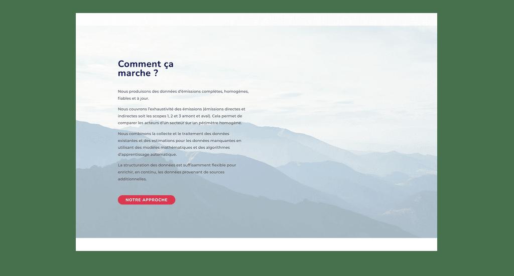 Dernière création de site internet wordpress et web design
