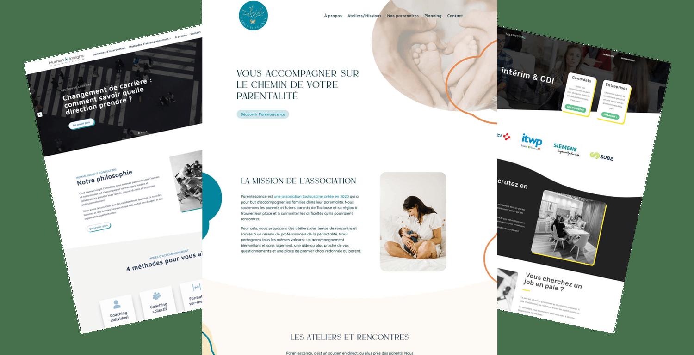 Exemple de création de site internet WordPress