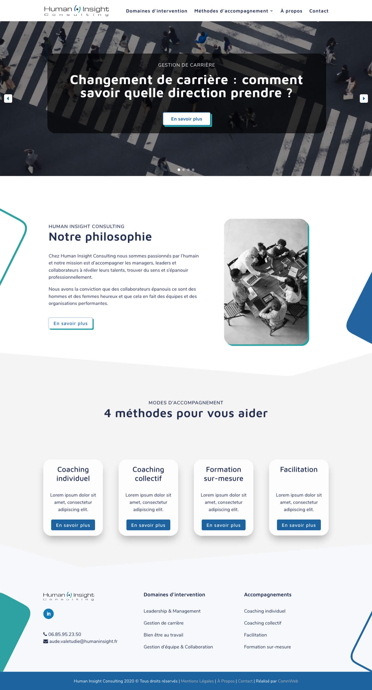 Exemple d'une maquette de site internet WordPress