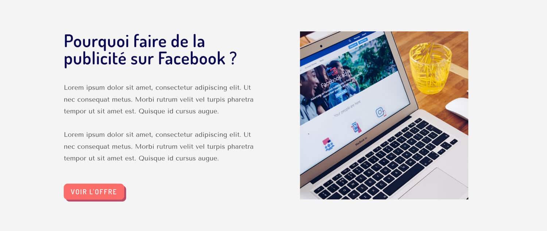 La présentation de l'offre du site internet d'Ana