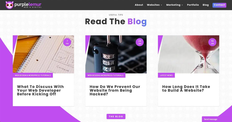 Publiez du contenu régulièrement sur votre site web.