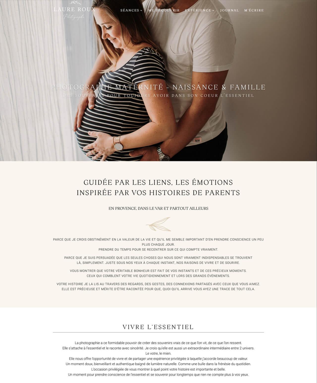 Création d'un site internet vitrine WordPress pour Laure Roux
