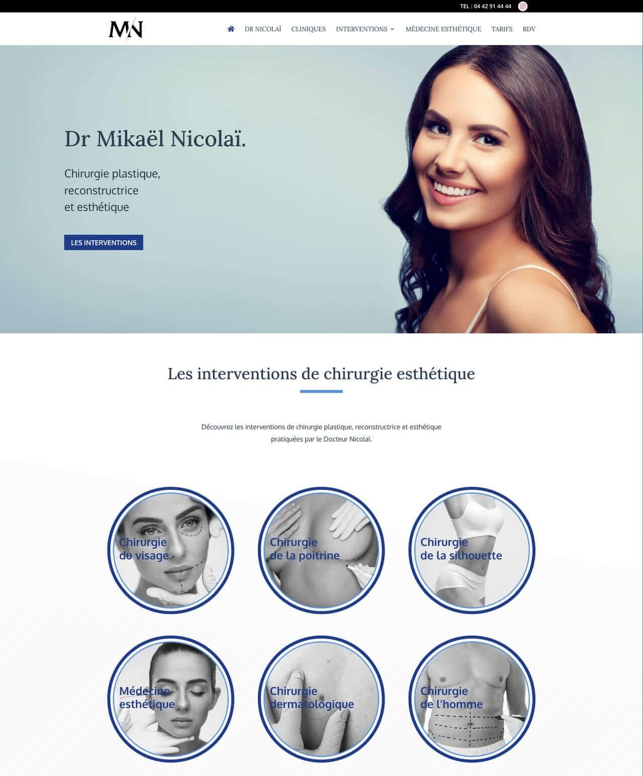 Création d'un site internet vitrine WordPress pour le Dr Nicolaï