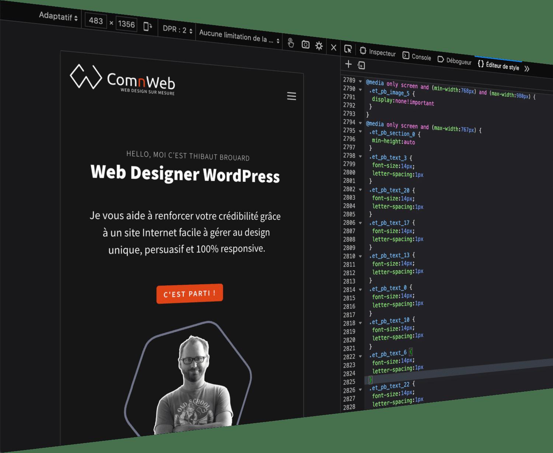 Un webdesign unique pour la création de votre site internet WordPress